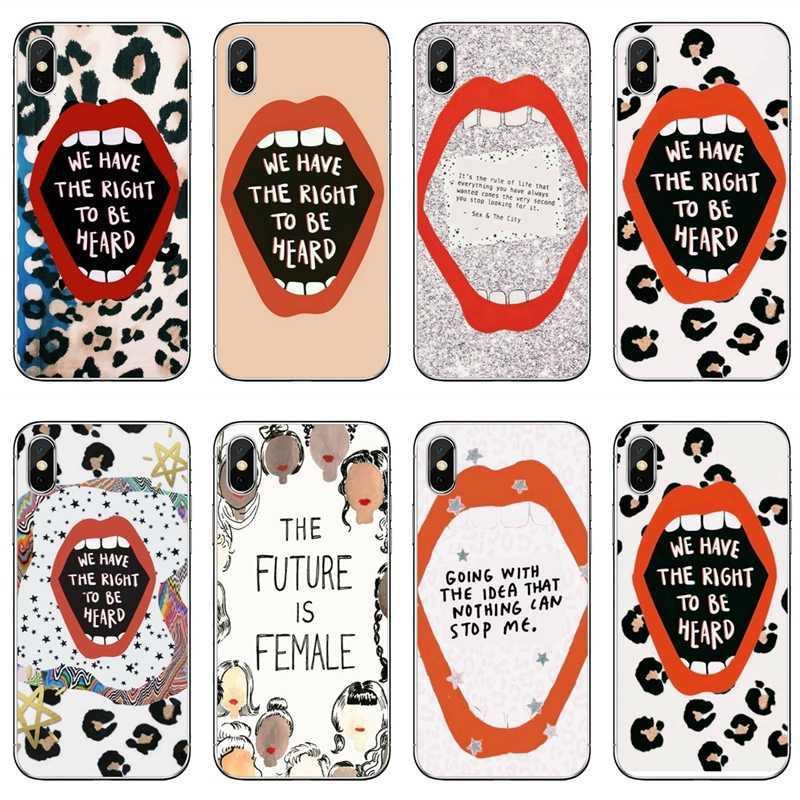 Ilham feminizm Empowerment kapak samsung kılıfı Galaxy S10 Lite S9 S8 S7 S6 kenar artı S5 S4 not 9 8 5 4 3 mini kılıf