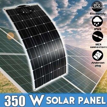 Panel Solar impermeable de 350W, célula Solar Flexible para cargador de batería...