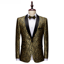 Men Blazers Banquet Party Prom Ball Slim Fit Wedding Tuxedo Suit Jackets Shawl Lapel Stage Costume Nightclub Singer Host Dancer