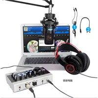 Alctron-Interfaz de grabación de Audio USB U16K MK3, micrófono externo, amplificador de tarjeta de sonido USB, Cable RCA para PC, portátil y teléfono
