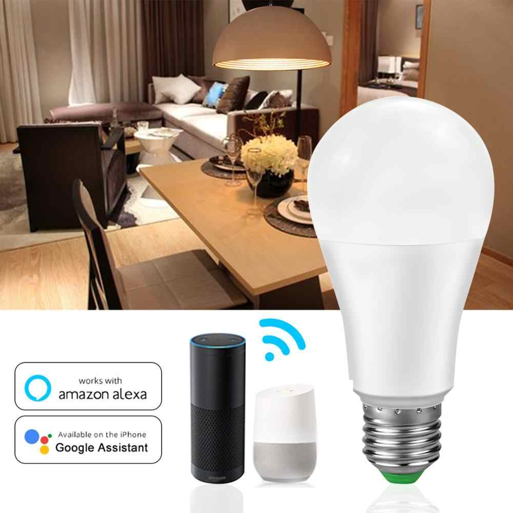 LED Smart WiFi Light Bulb Bluetooth 4.0 APP RGB RGBW RGBWW E27 Lampu LED 110V 220V Google Home/IR Remote Kontrol Rumah Lampu