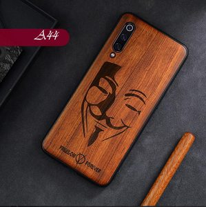 Image 2 - עבור Xiaomi Mi 10 אולטרה לייט לערבב 3 Mi 9T SE CC9 CC9E הערה 8 פרו Redmi K30 K20 מוצק עץ גילוף כיסוי הכל כלול עץ Funda