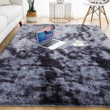 Alfombra suave de felpa para sala de estar, alfombras gruesas y esponjosas para decoración de dormitorio, alfombras largas antideslizantes, color gris, para habitación de niños
