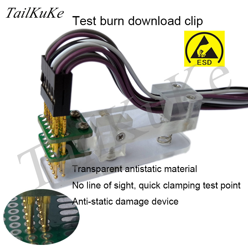 Testing Jig PCB Clamp Simulation Test Fixture 1.27 Probe Single Row Download Program Programming Burn