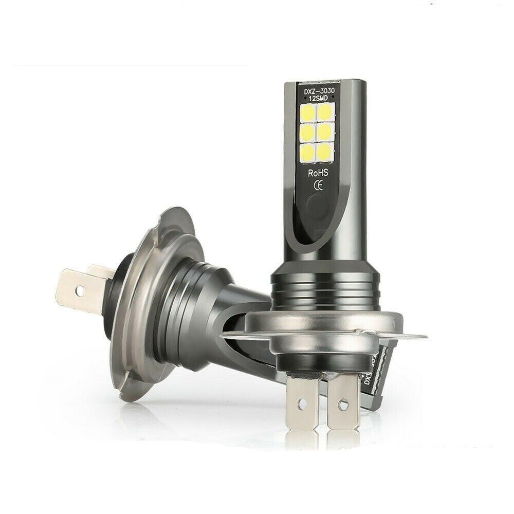 2x Car Lights 9005 H4 H7 LED Headlight SMD Bulb Fog Light 1600LM Bright LED Light Bulbs