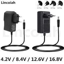 Chargeur d'alimentation 4.2V 8.4V 12.6V 16.8V 1A 2A 2000ma AC/DC pour 1S 2S 3S 4s 110, Pack de batterie au Lithium Li-ion