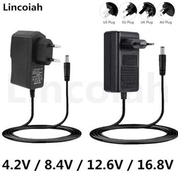 4.2V 8.4V 12.6V 16.8V 1A 2A Adapter Voeding Oplader Voor Deko Laser Niveau Boor Driver schroevendraaier 18650 Lithium Batterij