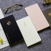 Tasche-Notebooks Journal Wöchentlich-Täglichen-Planer Studie Monatliche Bunte Jährlich Planer Reine Farbe PU Leder Ins Tasche notebooks