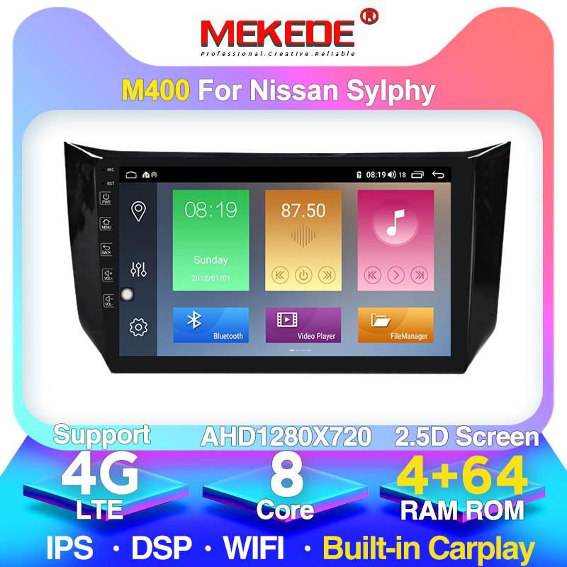MEKEDE 4G LTE Android 10 Car Dvd Player For Nissan Sylphy B17 Sentra 12 2013 2014 2015 2016 2017 2018 Auto Gps Navigation Stereo