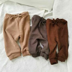 Kids Baby Girls Boys Pants Autumn Cotton Soft Comfortable Knitted Pants Toddler Bottom Pants Baby Solid Color Leggings Clothes