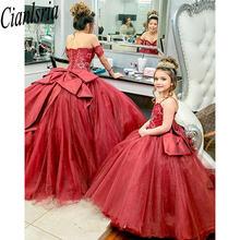 Бордовые платья quinceanera бальное платье для девочек vestido
