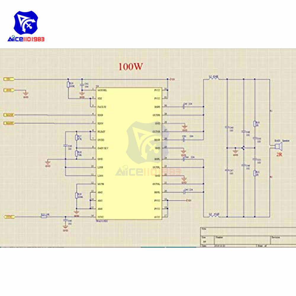 Diymore TPA3116D2 Amplifier Modul 250W + 100W 2.1 Channel Digital Audio Power Amplifier Papan Amp Subwoofer