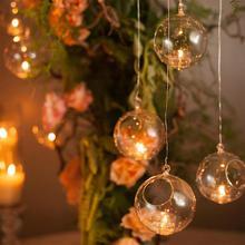 Держатель для чайного светильника, стеклянная круглая романтическая ваза, диаметр 6 см, в форме глобуса, в суккулентном стиле, домашние декорации, свадебные палочки для свечей, подсвечник