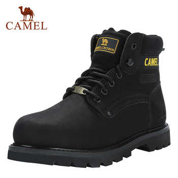 CAMEL Men's Shoes Quality Tooling Boots Genuine Leather Army Male Tactical Military Botas Rubber Cool Work Shoes Man Size 41-46 - DISCOUNT ITEM  25% OFF All Category