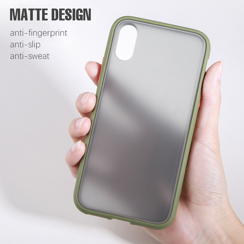 Luxury Color Frame Transparent Matte phone case For iphone Cellphones & Telecommunications iPhone Cases/Covers Mobile Phone Accessories Phone Covers