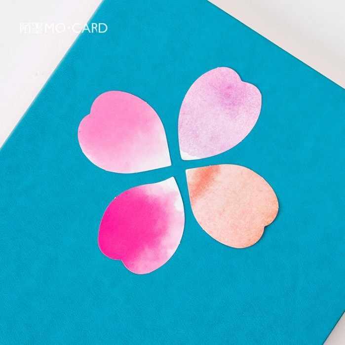 45 قطعة/صندوق البتلة مذكرة الوسادة ورقة صغيرة ملصق الديكور ملصق مائي لتقوم بها بنفسك ألبوم سكرابوكينغ لواصق الختم Kawaii القرطاسية هدية