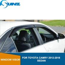 Window Visor deflector Rain Guard For Toyota CAMRY SEDAN 2012 2013 2014 2015 2016 2017 2018 Window rain protector  SUNZ недорого
