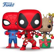 FUNKO POP Spider-man Deadpool Marvel Super Heroes Groot Action Figure Modelo Série Especial de Natal Presentes Brinquedos Boneca de Vinil(China)