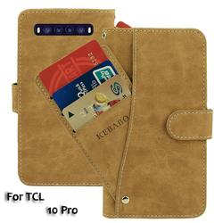 На Алиэкспресс купить чехол для смартфона vintage leather wallet tcl 10 pro case 6.47дюйм. flip luxury card slots cover magnet phone protective cases bags