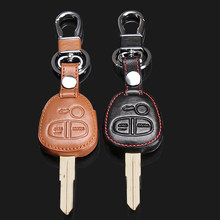 2017 High quality for MITSUBISHI OUTLANDER PAJERO Lancer EX / for Mitsubishi ASX leather car 3 buttons remote key chain key case(China)