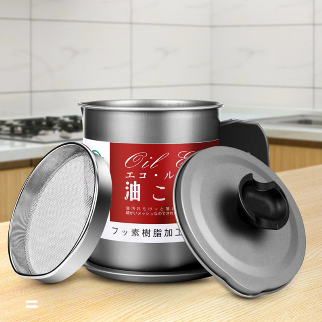 Stainless Steel Oil Storage Can Container for Kitchen Storing Frying Oil Kitchen Cooking Tools