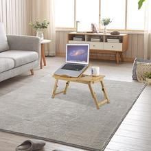 Складная портативная бамбуковая подставка для компьютера, стол для ноутбука с/без вентилятора, чайная сервировочная кровать, обеденный сто...