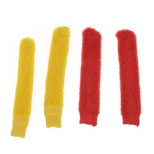 2Pcs Badminton Racket Elastic Towel Wrap over Grip Cover Yellow & 2Pcs Badminton Racket Anti-Slip Elastic Towel Towelling Grip(China)