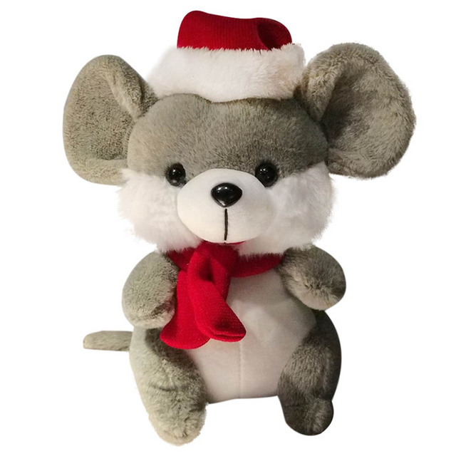 25cm Cute Kawaii Couple Mouse Plush Toys Doll 2020 New Year Mascot Toy Children Hug Stuffed Animals Doll Kids For Christmas Gift