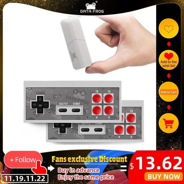 DATEN FROSCH Retro Video Spiel Konsole 8 Bit Gebaut in 1400 Klassische Spiele Mini Drahtlose Konsole Unterstützung AV/HDMI ausgang Dual Gamepads