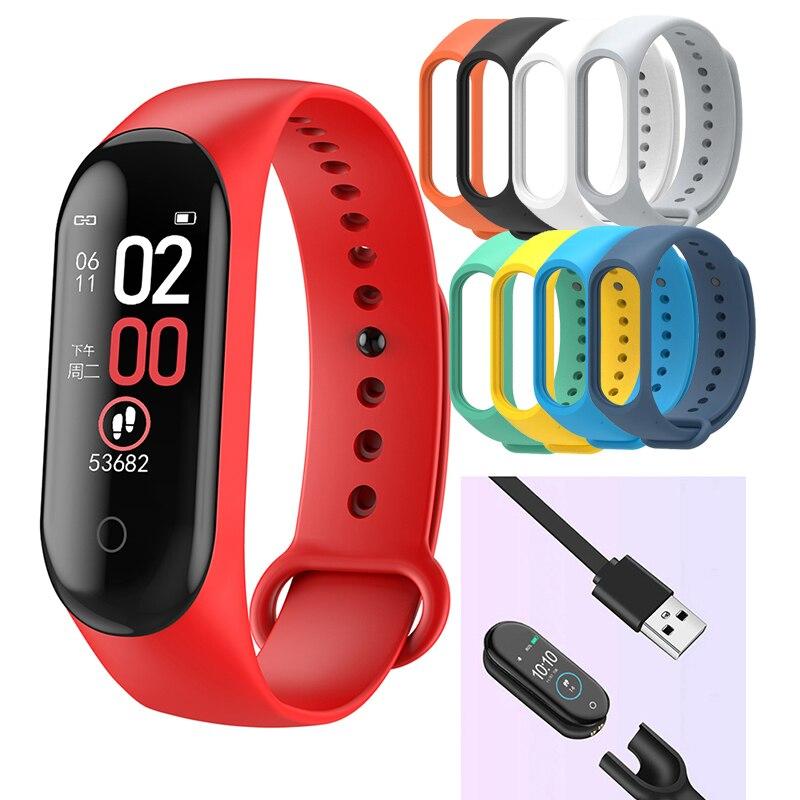 M4 спортивный смарт-браслет, Смарт-часы с монитором артериального давления, смарт-браслет m4, браслет для мужчин и женщин, Прямая поставка