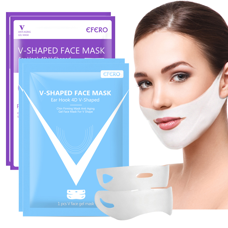 Women Wrinkle 4D Double V Face Chin Cheek Lift Up Slimming Mask Anti-wrinkle Cream V Shaped Face Mask for Face Chin Slim Firming(China)