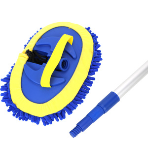 Image 4 - Teleskopik uzun saplı araba temizleme fırçası ayarlanabilir temizlik paspası şönil süpürge araba yıkama fırçası otomatik temizleme araçları