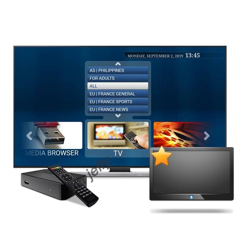 3 6 9 12 monate 4K HD Frankreich italien Europa sport m3u Kanäle Android tv Box Spanien UK USA CA 1 jahr IPTV Abonnement set-top box