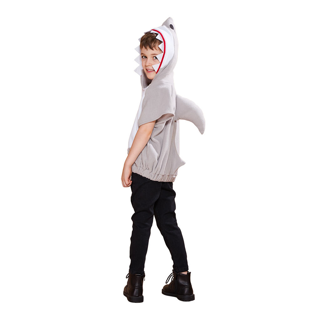 Image 5 - Eraspooky Cute Hooded Shark Cosplay Halloween Costume For Kids Children Animal Toddler Carnival Party Cartoon Fancy Dress Gifts