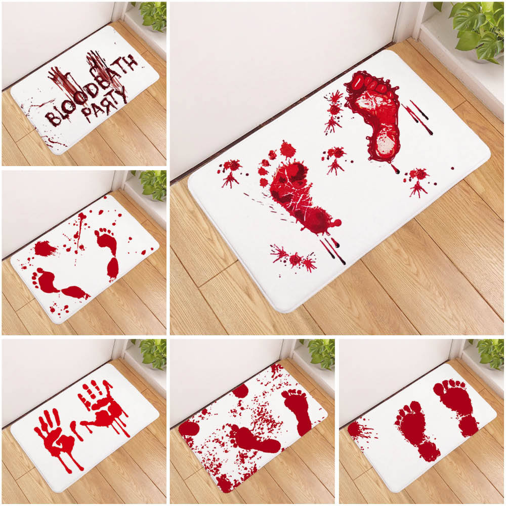 New Door Mat Bathroom Rug Bedroom Carpet Bath Mat Rug Non-Slip Beach footprints