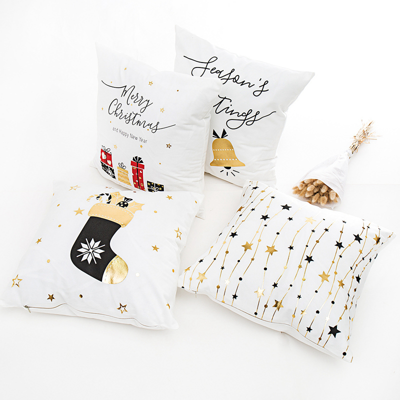 PATIMATE Christmas Pillow Case Merry Christmas Decoration For Home Christmas Ornaments 2019 Xmas Navidad Gifts New Year 2020 in Pendant Drop Ornaments from Home Garden
