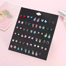 new fashion mixed small crystal rhinestone round ball stud earrings for women trendy owl flower wedding earrinngs gift