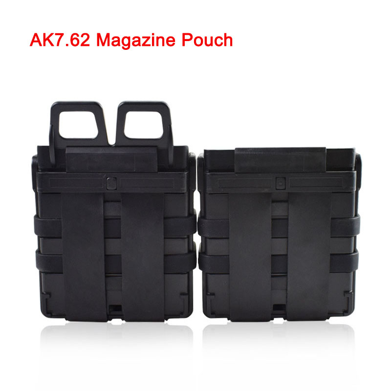 Tactical Military 7.62 Fast Mag Holder Molle Rifle <font><b>Magazine</b></font> Pouch Set AK <font><b>M4</b></font> Airsoft <font><b>Magazine</b></font> Pouch Hunting Hard Shell Cartridge image