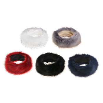 Winter Faux Fur Headband for Women - Soft Winter Cossack Russion Style Hat Cap - Fancy Ear Warmer image