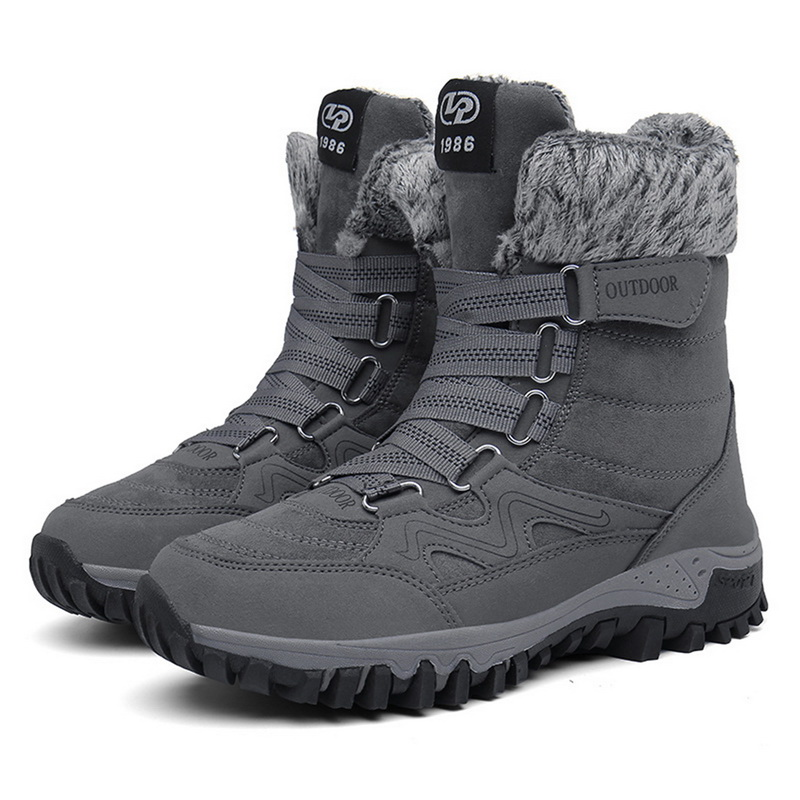 Men Boots Footwear Work-Shoes Winter Rubber Fashion with Fur 35-46 Warm