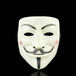 Image 4 - Anoniem Maskers Kostuums Vendetta Gezicht Fancy Party Cosplay Stijl Goud Volwassen Fawkes Levert Zilver Geel Guy Wit Halloween
