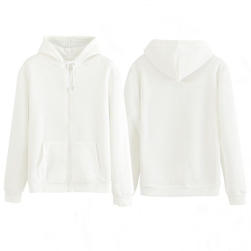 Women Sweatshirt Casual Solid Colors Oversized Full Zip-Up Hoodies Jacket 2020 Winter Velvet Thickening Warm Tops Long Sleeve 8