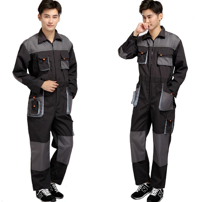 Jumpsuit Bib Overalls Auto Repair Work Coveralls Working Uniform Male Maintenance Clothes Welding Suit Taller Mono De Trabajo