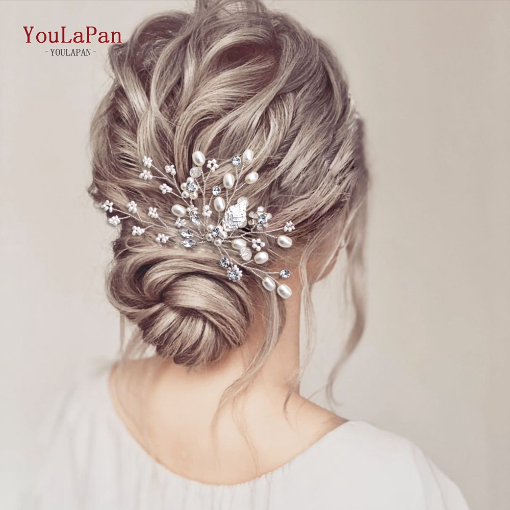 TOPQUEEN HP103 Bride Hair Jewelry Wedding Tiara Wedding Clips Wedding Headwear Bridal Hair Pins Wedding Hair Accessories