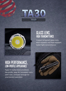 Image 5 - ترقية 1300 لومينز LED التكتيكية مضيا 18650 بطارية مشرق قابلة للشحن مقاوم للماء العسكرية كشاف بوليسي TA30 2.0