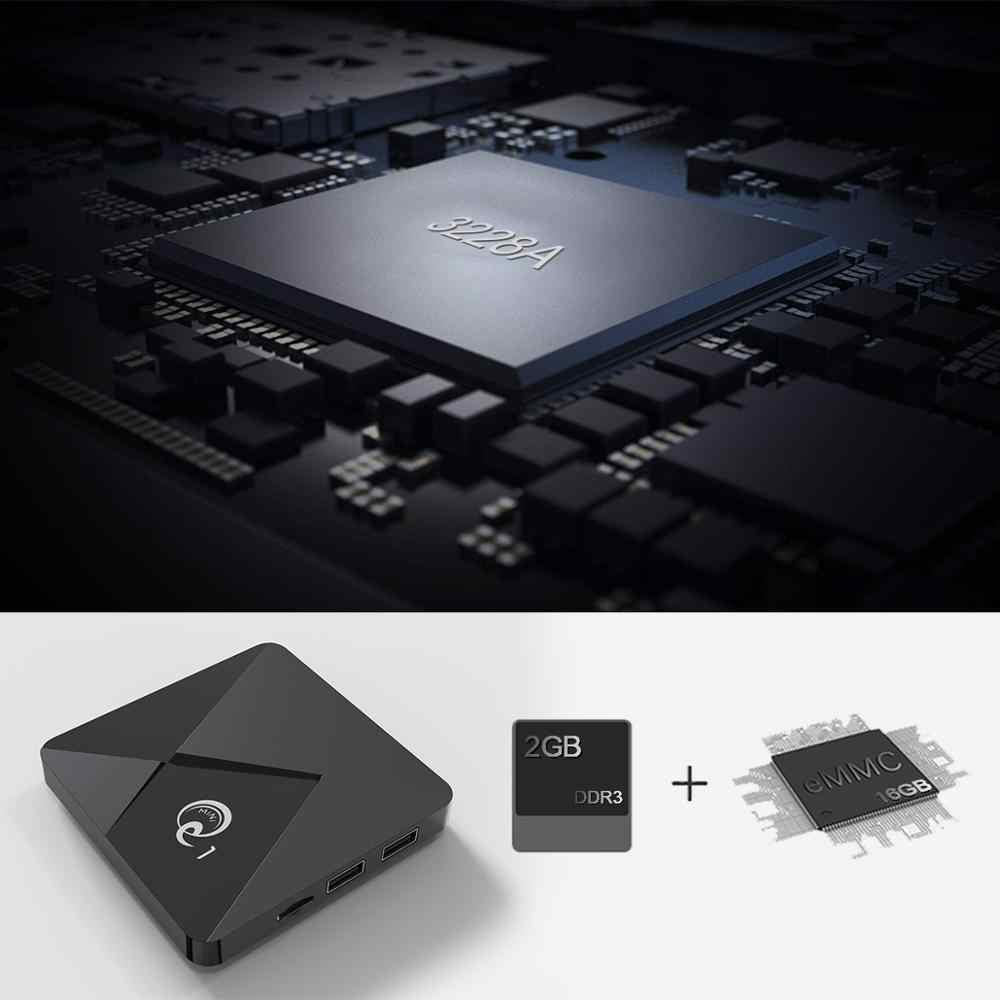 Smart Android 9.0 TV Box Q1 Mini Rockchip RK3328A 2GB 16GB lecteur multimédia 2.4 WiFi Google jouer Android TV boîtier décodeur