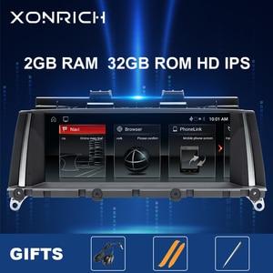 IPS 4 Core Android 10 samochodów Multimedia radiowe dla BMW X3 F25 dla BMW X4 F26 Audio Stereo jednostka nawigacji GPS monitor F25 2GB