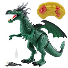 Remote Control Dinosaur Toy Electric Fire Breathing Dinosaur With Walking, Sound Rc Dinosaur Model Toys For Kids Children