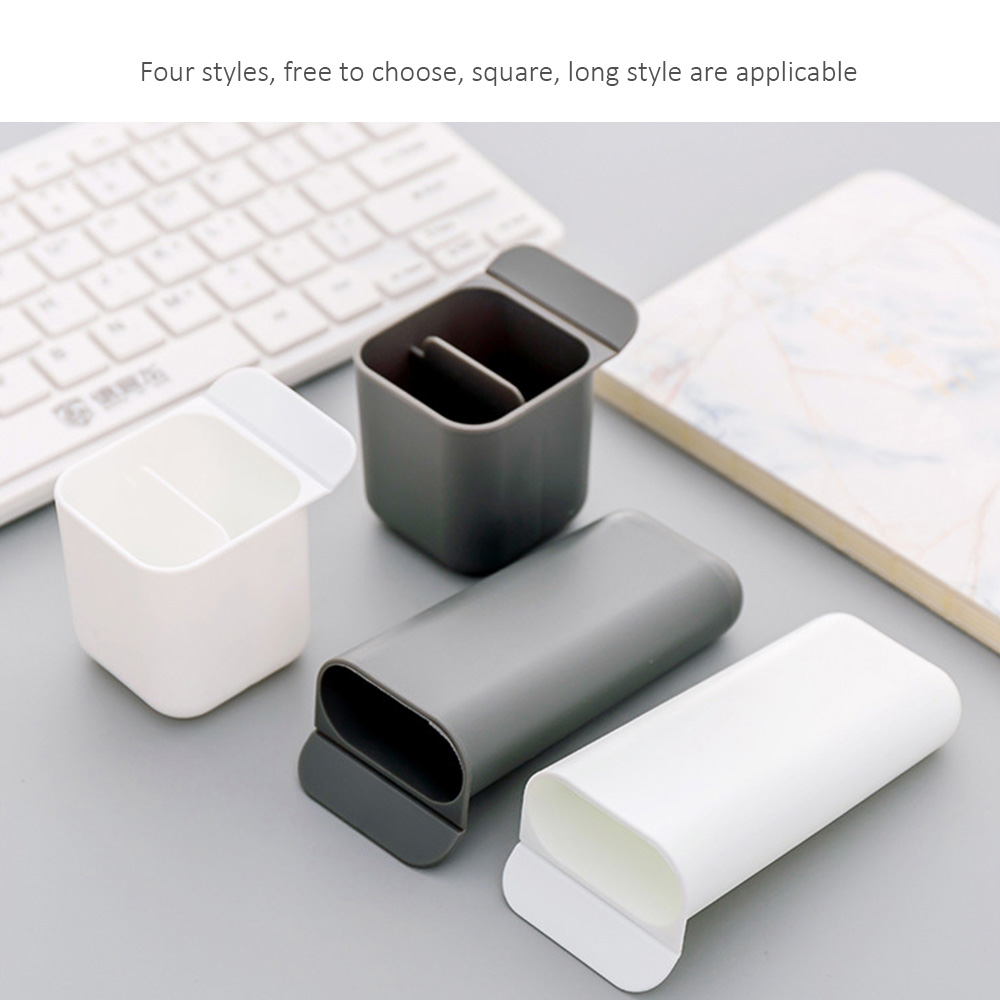 Creative Paste Pen Holder Desk Pen Pencil Storage Box Office Sundries Storage Desktop Storage Box School Stationery Holder