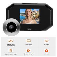 Peephole 3 in 720P HD 스마트 도어 뷰어 스크린 디스플레이 초인종 보안 비디오 카메라 도어 벨 카메라 도어 틈 구멍